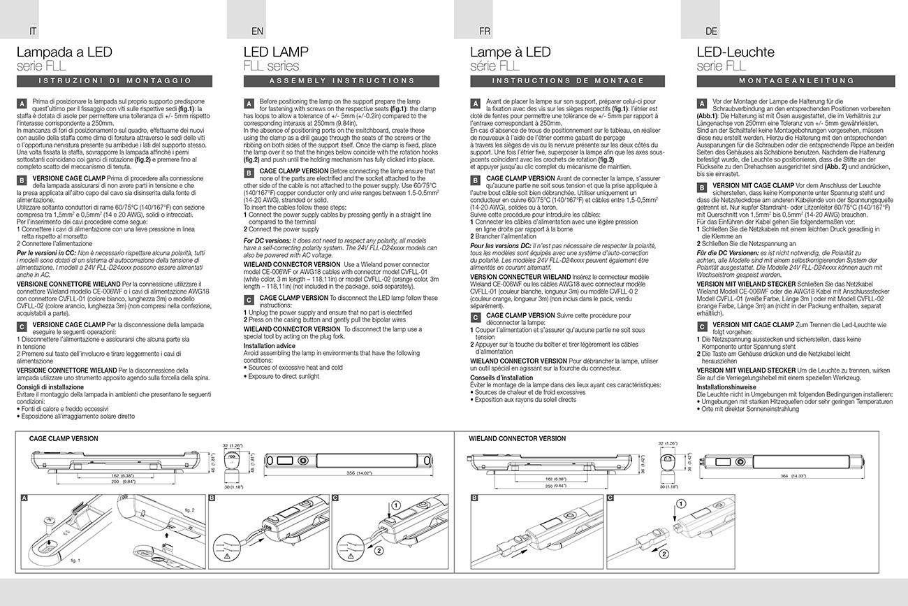 Lampade a LED FLL istruzioni