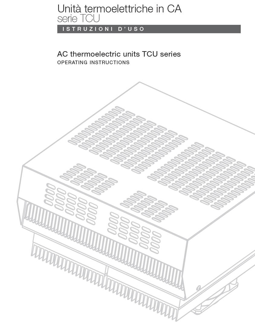 Thermoelectric units TCU AC instructions
