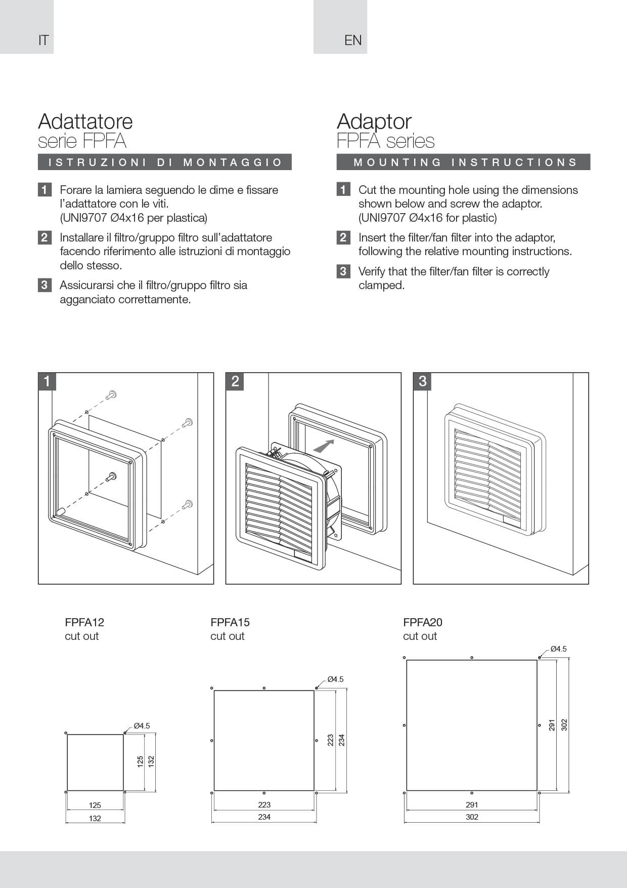 Filter fans adapter FPFA instructions