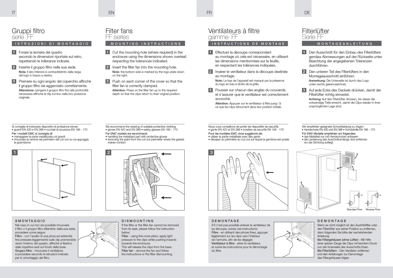 Filter fans FF instructions