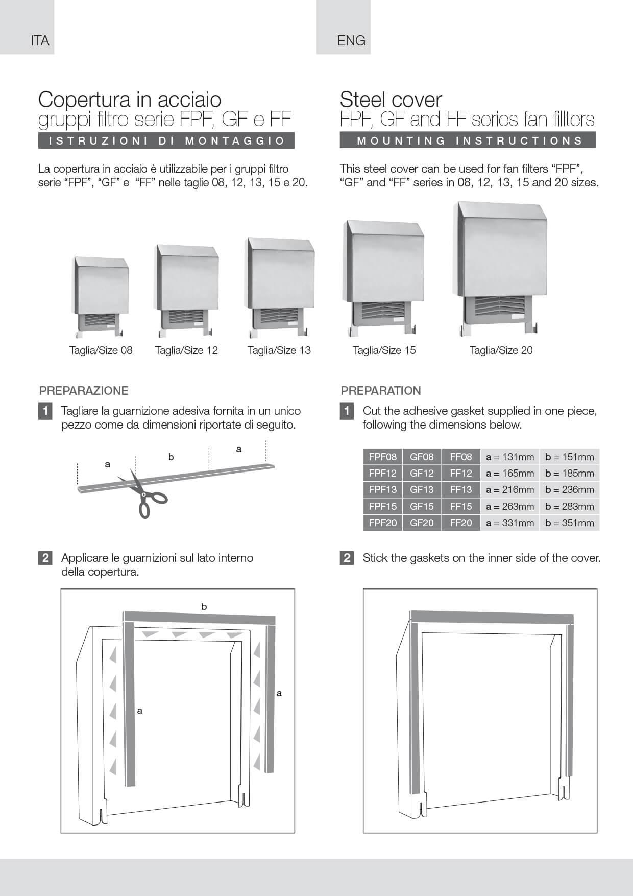 Filter fans hose proof hood SSC instructions