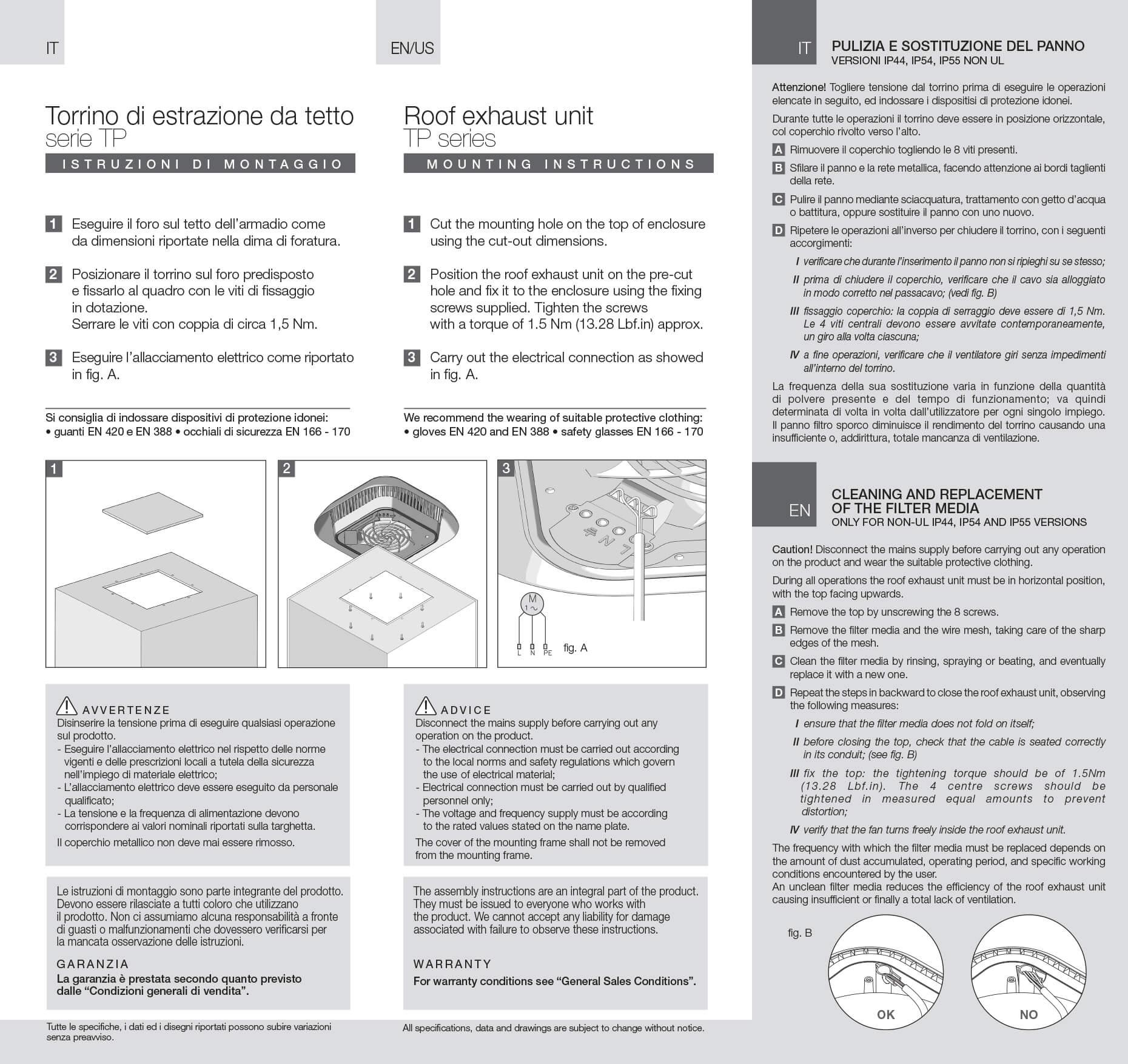 Roof units TP instructions